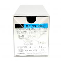 Black Silk 5-0 각침,원침