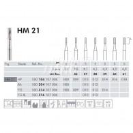 Tungsten Carbide Burs RA #HM21
