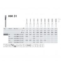 Tungsten Carbide Burs RA #HM31