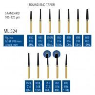Gold Diamond Burs (Standard) #850, 850N, 850L, 851, 898
