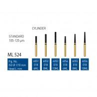Gold Diamond Burs (Standard) #6051, 6052, 6053, 6054, 6055, 6056