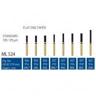 Gold Diamond Burs (Standard) #836, 837, 842