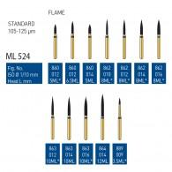 Gold Diamond Burs (Standard) #860, 862, 863, 864