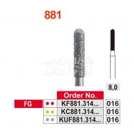 [단순포장개봉] K-Diamond Bur #KF881-016